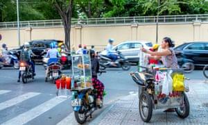 Street food vendors, Saigon, Vietnam