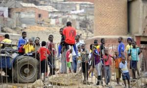 Childen at the Boa Vista slum in Luanda.