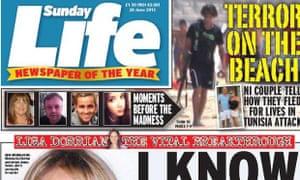 Sunday Life: complaint upheld by Ipso