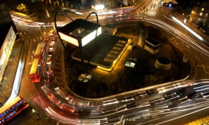 Old Street Roundabout at night