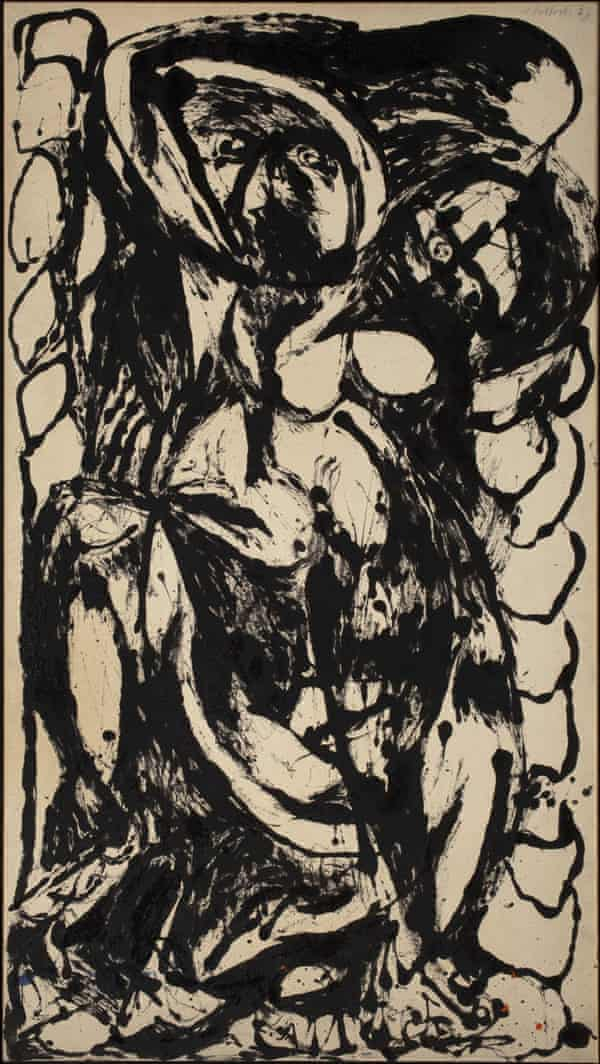 Number 5, 1952, by Jackson Pollock.
