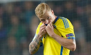 The Sweden Under-21 striker, John Guidetti, has had a better time for his country than in club football of late