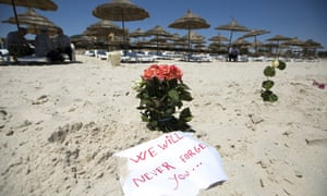 Flowers are laid at the Imperial Marhaba resort, Sousse