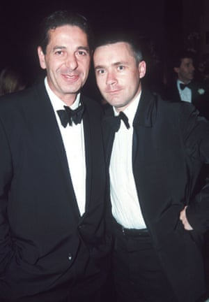 Damien Hirst and Charles Saatchi in 1997.