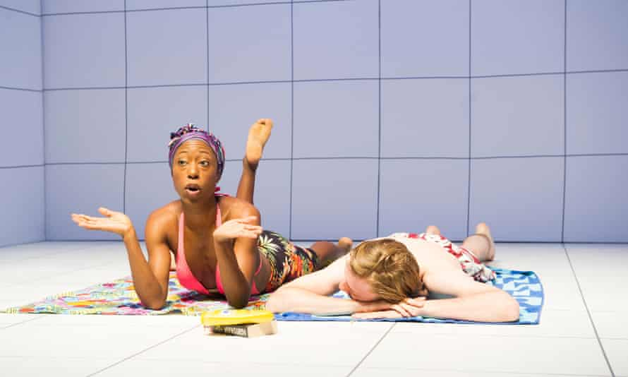 Summertime … Amuka-Bird and Joshua James in Sex from Love and Information at Royal Court, 2012.