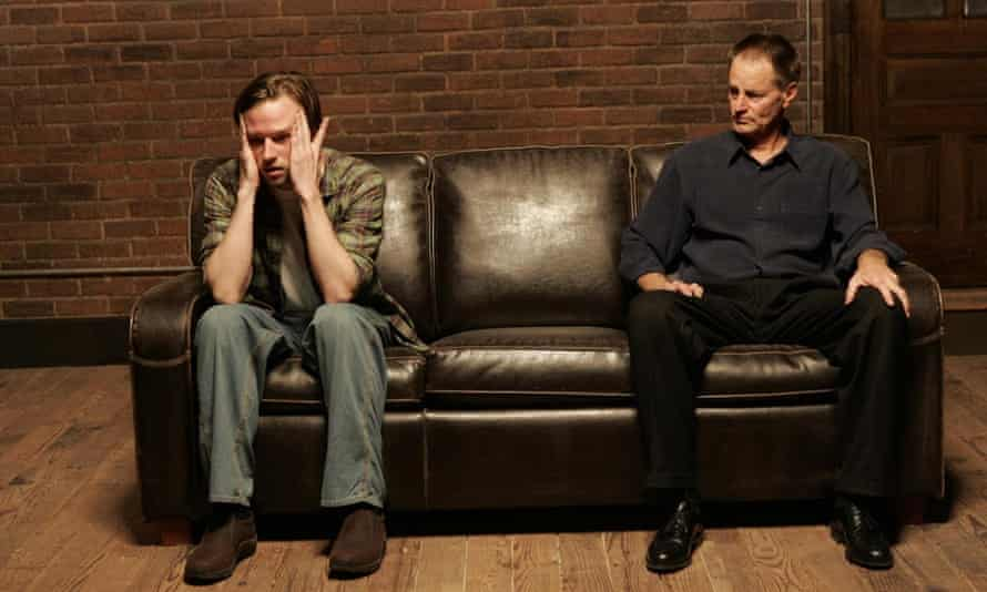 Room for one more … Dallas Roberts (left) and Sam Shepard at New York Theatre Workshop.