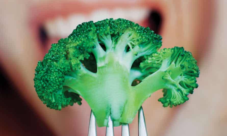 brocoli on a fork