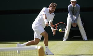Stan Wawrinka takes the first set against Joao Sousa of Portugal.