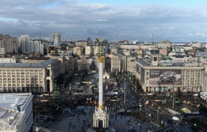 A view over Kiev's Maidan during pro-European Union protests in December 2013.