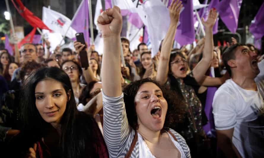Syriza supporters in 2014