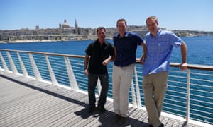 Chris Kuzneski, Boyd Morrison, and Graham Brown in Malta