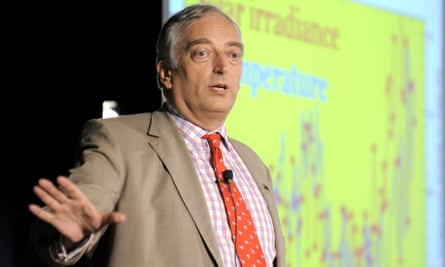 Christopher Monckton gestures as he addresses the National Press Club in Canberra, Australia, 03 February 2010.  Monckton and colleagues got caught misrepresenting climate model projections in a new paper.