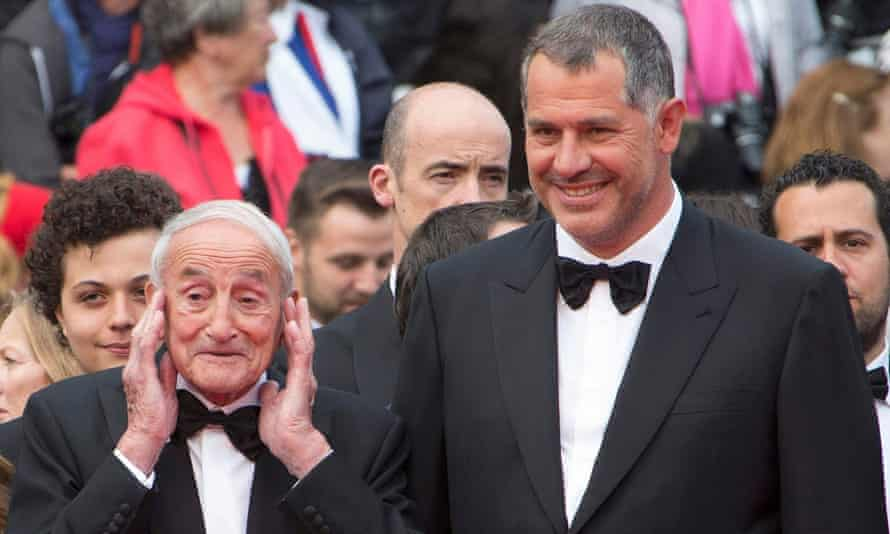 Luc Jacquet and glaciologist Claude Lorius at the Cannes premiere of Ice and the Sky