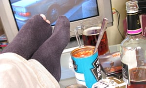 'Eating in front of the TV is bad news'