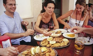 'We eat 35% more when with one other person, 75% more with three others and twice as much when there are seven or more diners.'
