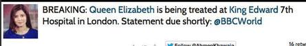 BBC reporter's tweet