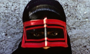 A woman wearing a niqab in Iran's Hormozgan province, which has the highest incidence of FGM in the country. Niqabs are only worn in southern provinces.