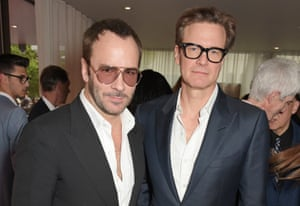 Tom Ford with the actor Colin Firth at the London premiere of 'The True Cost'.