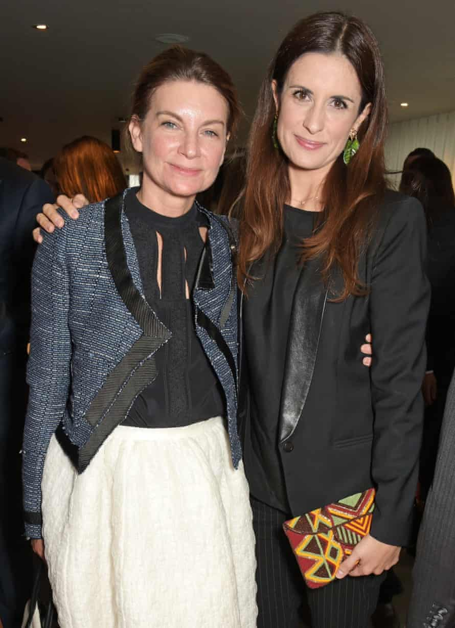 The chair of the British Fashion Council, Natalie Massenet, with the film's executive producer Livia Firth.