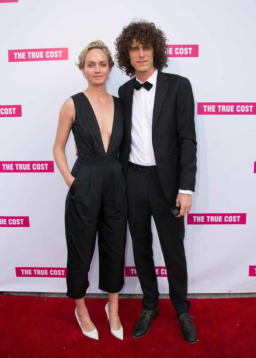 Director Andrew Morgan with model Amber Valetta at attend the film's Los Angeles premiere.