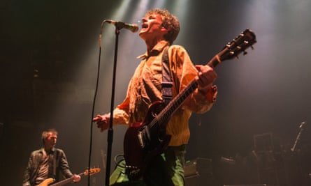 Tommy Stinson and Paul Westerberg of the Replacements at the Roundhouse, London.