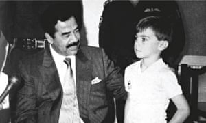 Stuart Lockwood with Saddam Hussein