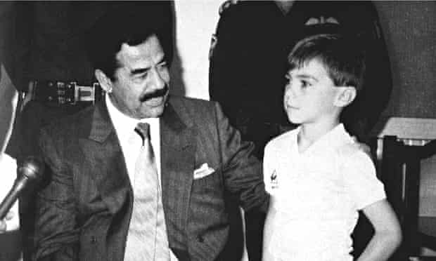 Stuart Lockwood with Saddam Hussein