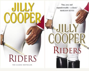 Spot the difference ... the original cover for Jilly Cooper's Riders (left) and the 30th anniversary redesign.