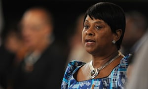 Doreen Lawrence, the mother of murdered British teenager Stephen Lawrence, at a memorial service for her late son at St Martin-in-the-Fields church in London.