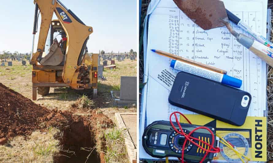graveyard digging