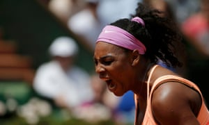 A roar from Serena Williams.