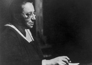 German-born mathematician Amalie 'Emmy' Noether