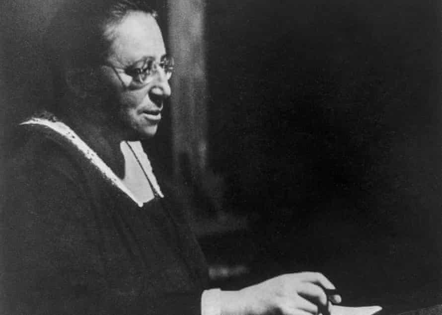 German-born mathematician Amalie 'Emmy' Noether