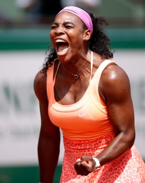 A rather happy Serena Williams.