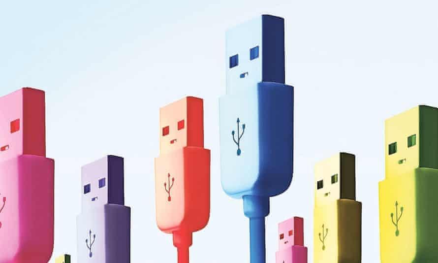 Multi coloured USB sticks