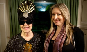 Victoria Coren Mitchell with Molly Parkin