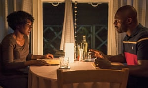 Nadine Marshall and Idris Elba in Second Coming.