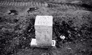 Hart Island gravestone