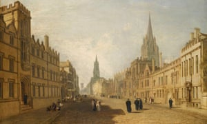 The High Street in Oxford, painted by JMW Turner