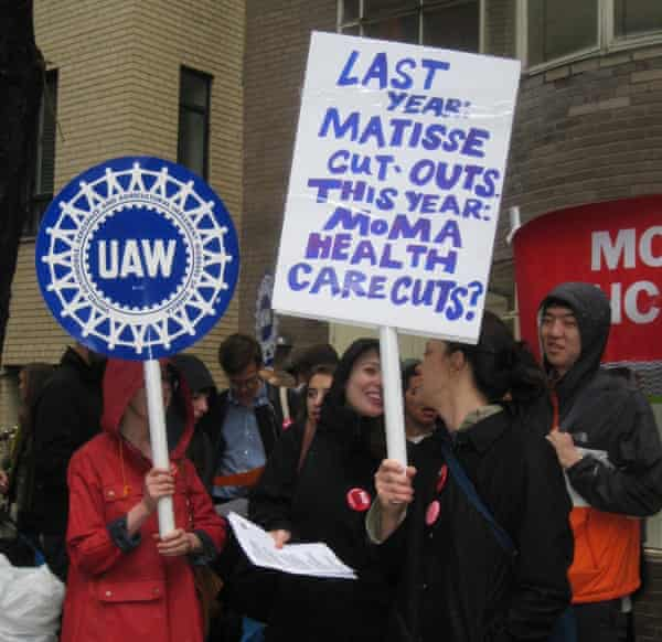 moma workers protests