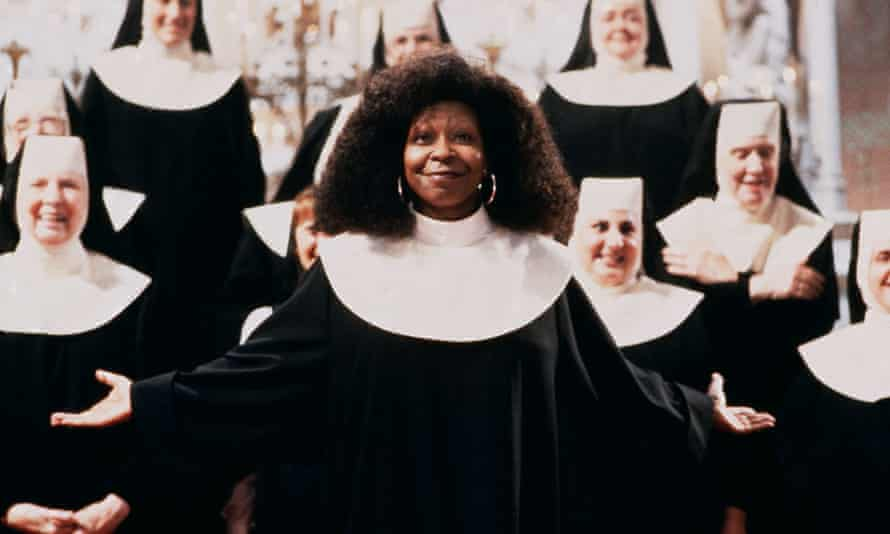 Nun on the run ... Whoopi Goldberg in Sister Act.