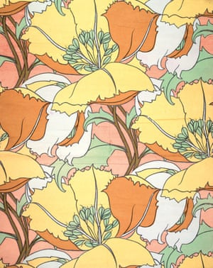 A floral print. From the book Liberty and Co. in the Fifties and Sixties, published by Antique Collectors Club.