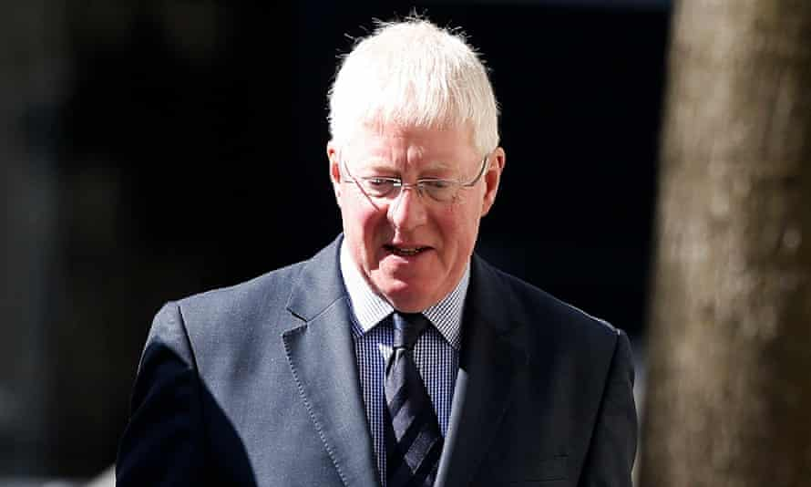 Malcom Layfield arrives at Manchester crown court to face charges of raping a pupil in the 1980s while he was a violin teacher at Chetham's music school.