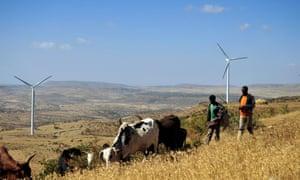 Wind turbine in Ethiopia's northern Tigray region.