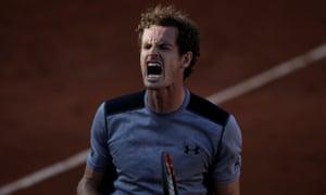 Andy Murray celebrates.