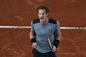 Andy Murray celebrates his victory over David Ferrer.