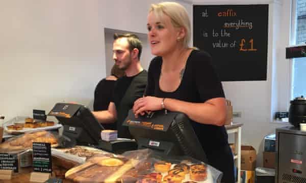 Staff serve customers