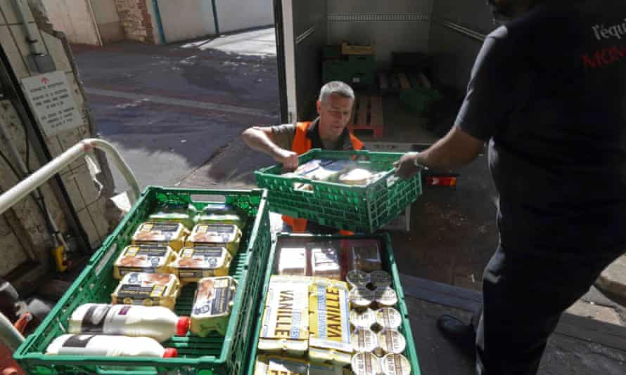 A similar scheme in France donates unsold food to charity organisations.