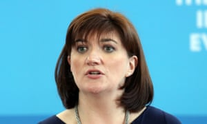 Nicky Morgan speaks during a visit to Kingsmead School in north London.