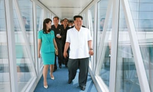 The airport was inspected by supreme leader Kim Jong-un in a visit publicised on state media last week. State news service KCNA reported that Kim Jong-un was 'very satisfied to see the terminal well built in harmony with modern aesthetic taste and national character', and praised the soldier-builders for their efforts